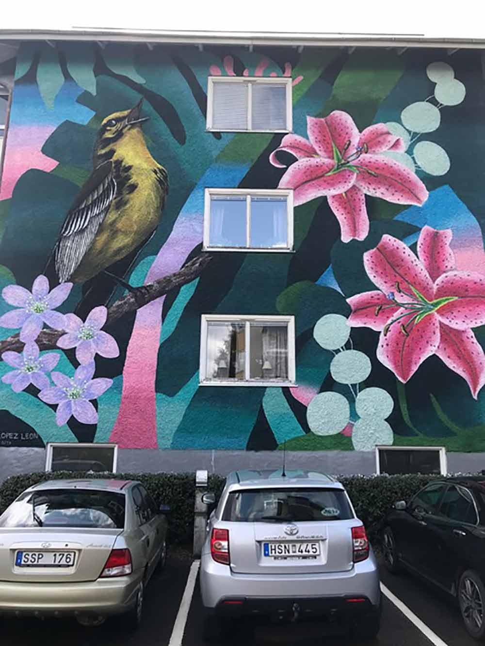 Street art. Ljusdal, Sweden. 2019. Photography by Mona Livholts